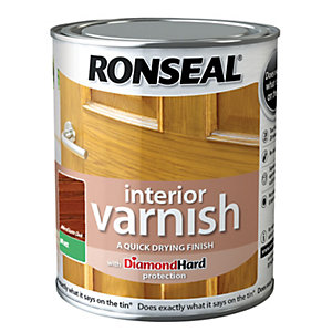 Ronseal Interior Varnish Matt Medium Oak 750ml