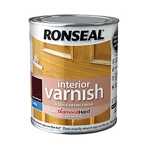 Ronseal Interior Varnish Satin Dark Mahogany 750ml
