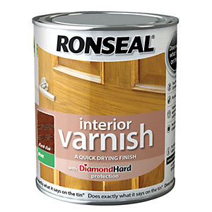 Ronseal Interior Varnish Matt Dark Oak 750ml