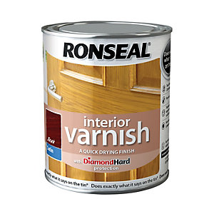 Ronseal Interior Varnish Satin Teak 750ml
