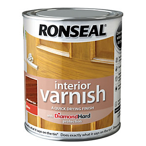 Ronseal Interior Varnish Gloss Medium Oak 750ml