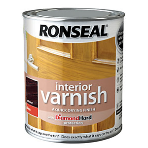 Ronseal Interior Varnish Gloss Walnut 750ml