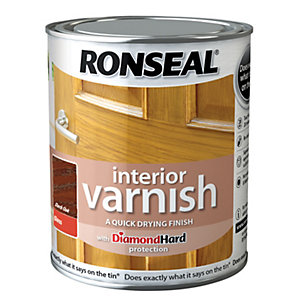 Ronseal Interior Varnish Gloss Dark Oak 750ml