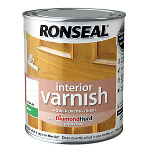 Ronseal Interior Varnish Matt White Ash 750ml