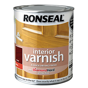 Ronseal Interior Varnish Gloss Teak 750ml