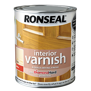 Ronseal Ultra Tough Interior Varnish Clear Gloss 750ml