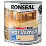 Ronseal Diamond Hard Floor Varnish Clear Satin 2.5L