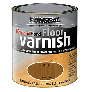Ronseal Diamond Hard Floor Varnish Dark Oak 2.5L