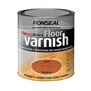 Ronseal Diamond Hard Floor Varnish Medium Oak 2.5L