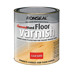 Ronseal Diamond Hard Floor Varnish Clear Gloss 2.5L