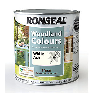Ronseal Woodland Trust Colour White Ash 2.5L