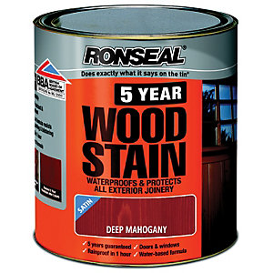 Ronseal 5 Year Woodstain Deep Mahogany 750ml