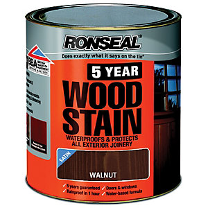 Ronseal 5 Year Woodstain Walnut 750ml