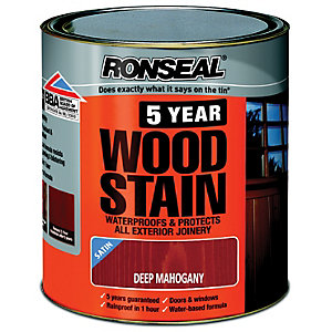Ronseal 5 Year Woodstain Deep Mahogany 2.5L