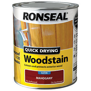 Ronseal Quick Drying Woodstain Satin Mahogany 750ml