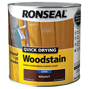 Ronseal Quick Drying Woodstain Satin Walnut 2.5L