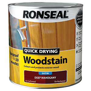 Ronseal Quick Drying Woodstain Satin Deep Mahogany 2.5L