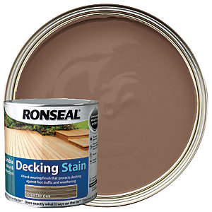 Ronseal Ultra Tough Deck Stain Country Oak 2.5L