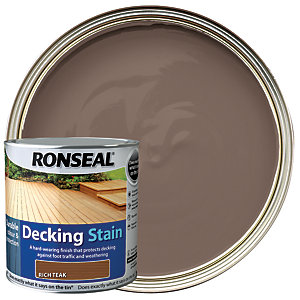 Ronseal Ultra Tough Deck Stain Rich Teak 2.5L