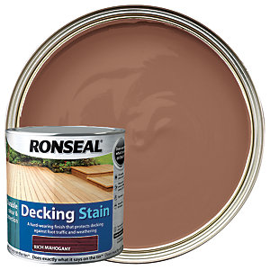 Ronseal Ultra Tough Deck Stain Rich Mahogany 2.5L