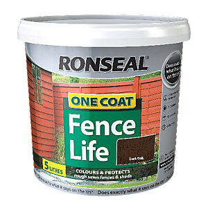 Ronseal One Coat Fencelife Dark Oak 5L