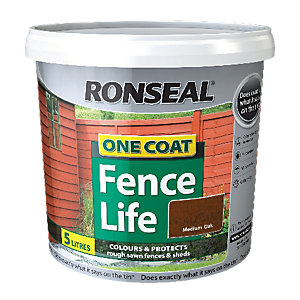 Ronseal One Coat Fencelife Medium Oak 5L