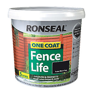 Ronseal One Coat Fencelife Black Oak 5L