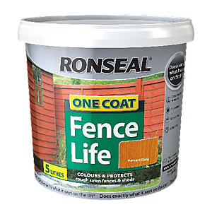 Ronseal One Coat Fencelife Harvest Gold 5L