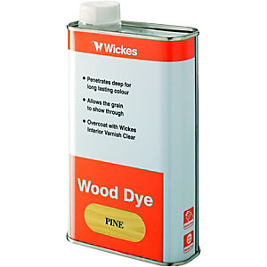 Wickes Wood Dye Dark Oak 500ml