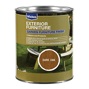 Wickes Garden Furniture Finish 750ml Dark Oak