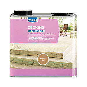 Wickes Decking Oil 2.5L Natural Oak