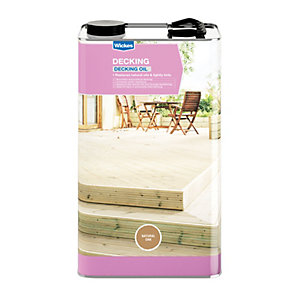 Wickes Decking Oil 5L Natural Oak