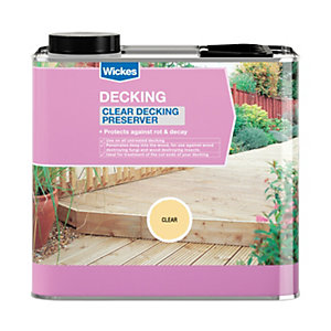 Wickes Decking Preserver 2.5L Clear