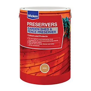 Wickes Shed & Fence Preserver Acorn Brown 5L