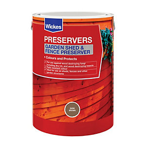 Wickes Shed & Fence Preserver Dark Brown 5L
