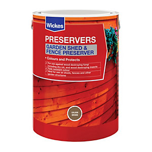 Wickes Shed & Fence Preserver Golden Brown 5L