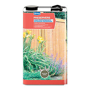 Wickes High Performance Wood Preserver 5L Woodland Green