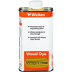 Wickes Wood Dye Antique Pine 250ml