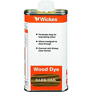 Wickes Wood Dye Dark Oak 250ml