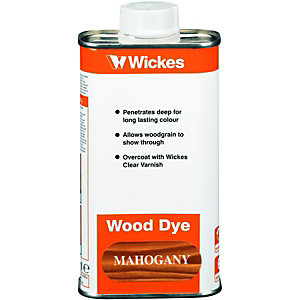 Wickes Wood Dye Mahogany 250ml