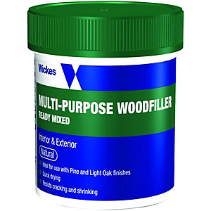 Wickes Ready Mixed Wood Filler Natural 250g