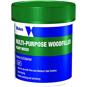 Wickes Ready Mixed Wood Filler Light 250g
