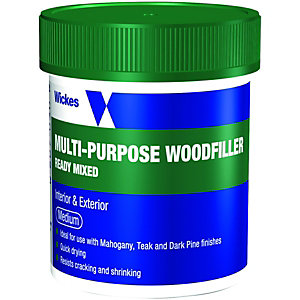 Wickes Wood Filler Tub Medium 250g
