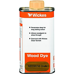Wickes Wood Dye Medium Oak 250ml
