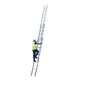 YOUNGMAN 3 SECTION PROFESSIONAL EXTENSION LADDER 7.68M