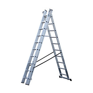 Wickes Professional 3 Section Combi Ladder 3.085m