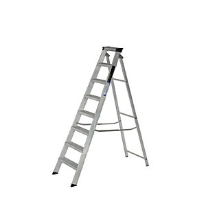Youngman 8 Tread Industrial Builders Step Ladder