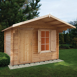 Shire Hopton Log Cabin 10x10 ft