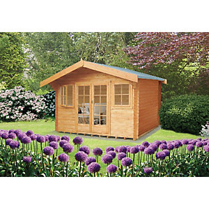 Shire Clipstone Log Cabin 12x12ft