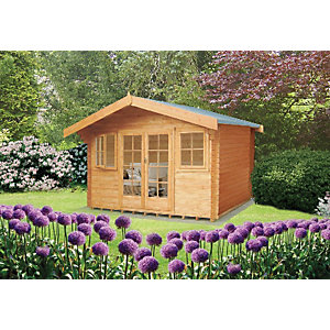Shire Clipstone Log Cabin 16x16ft